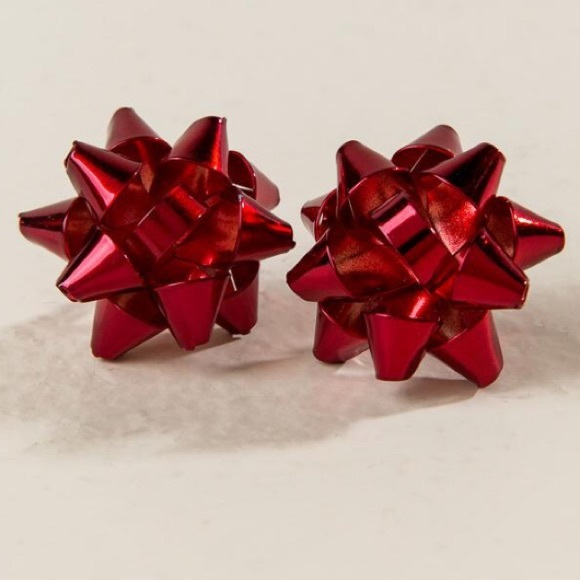 New! Holiday Bow Stud Earrings